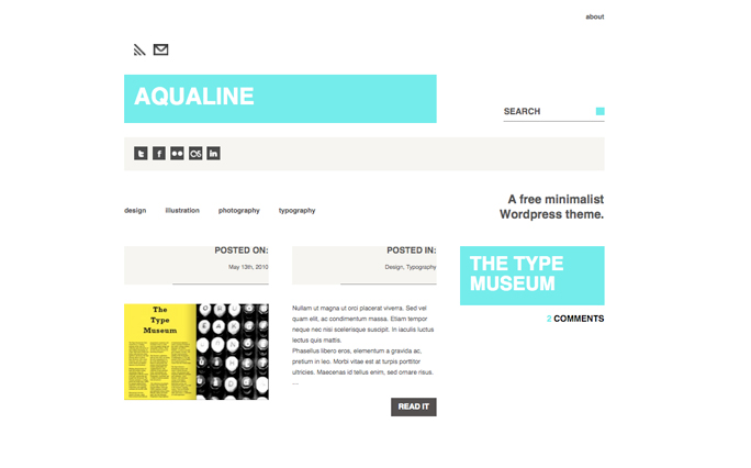 aqualine minimalist wordpress themes