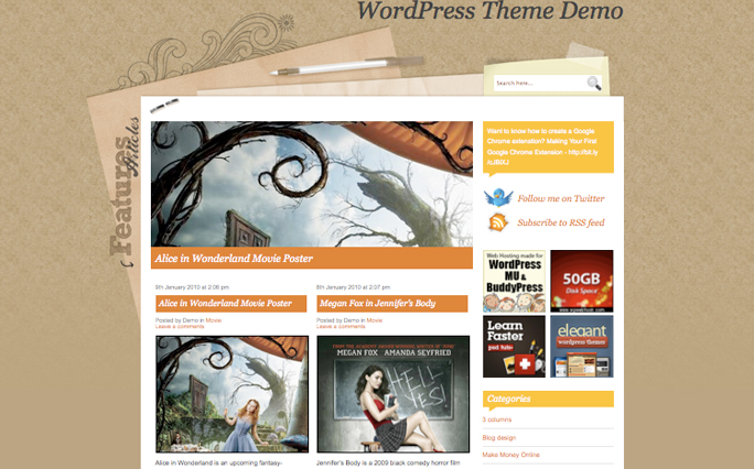 Foodiary Magazine WordPress Themes