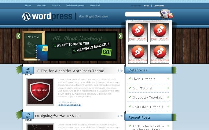 Blue WordPress Themes