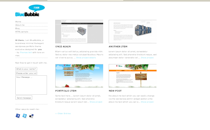 BlueBubble wordpress themes