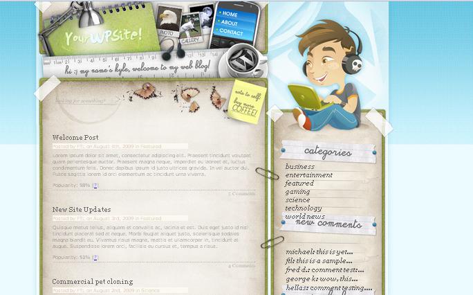 Deskspace WordPress Themes