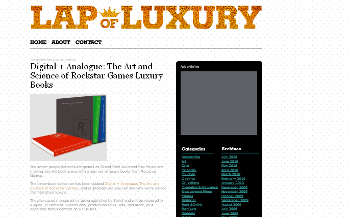 Lap of Luxury wordprees theme