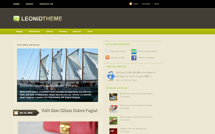 Leonid-Theme wordpress theme