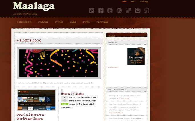 Maalaga wordpress theme