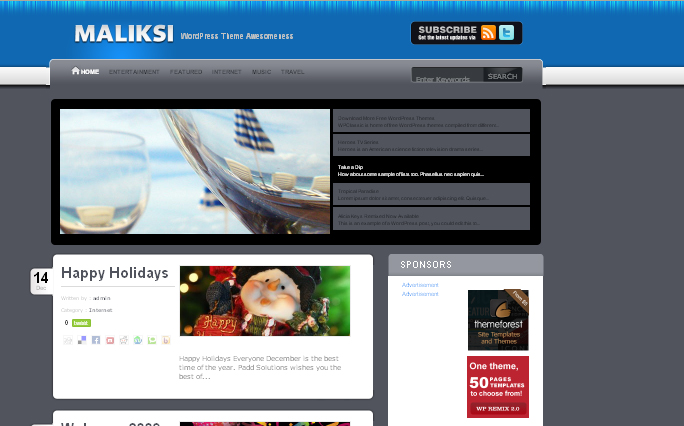 Maliksi wordpress theme