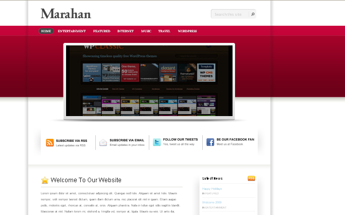 Marahan wordpress theme