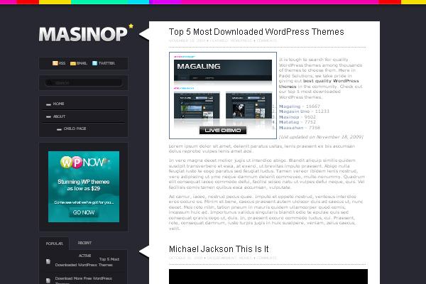 Masinop WordPress Themes