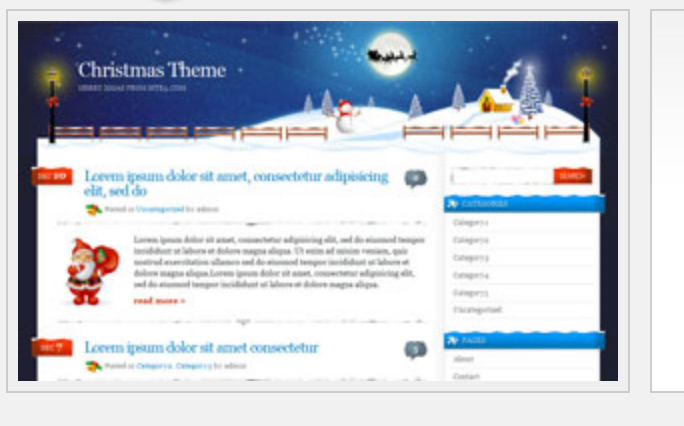 Merry Christmas wordpress theme