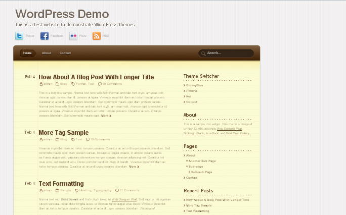 Notepad wordpress themes