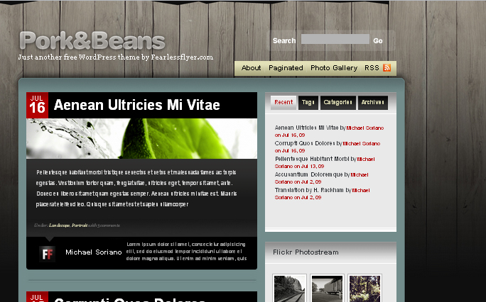 Pork and Beans wordpress thema