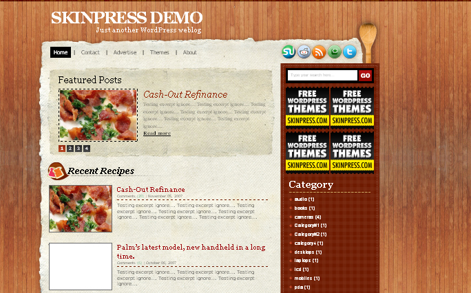Recipy WordPress Themes