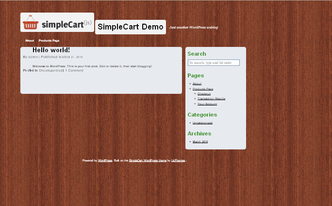 SimpleCart(js) wordpress theme