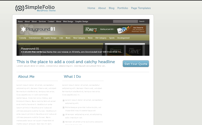 SimpleFolio wordpress themes