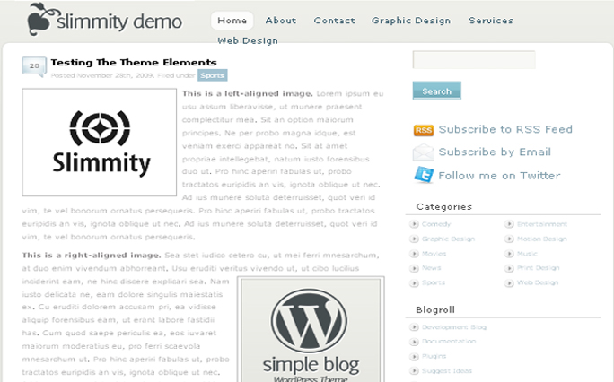Simpleblog wordpress themes