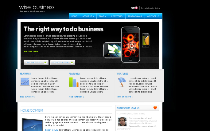 Wise Business wordpress theme