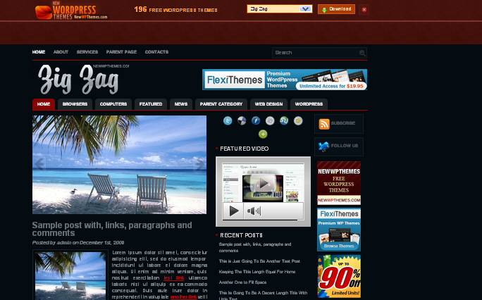 Zig Zag wordpress theme