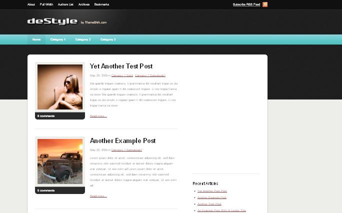 destyle wordpress themes