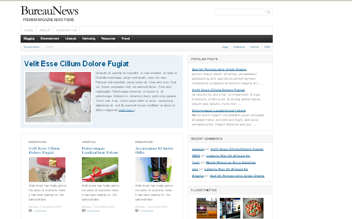Bureau-News wordpress themes