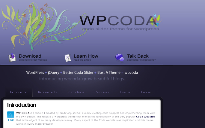 wpcoda wordpress theme