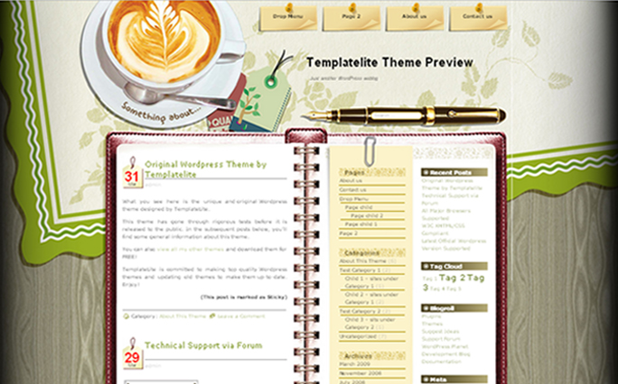 Coffee-Desk WordPress Themes
