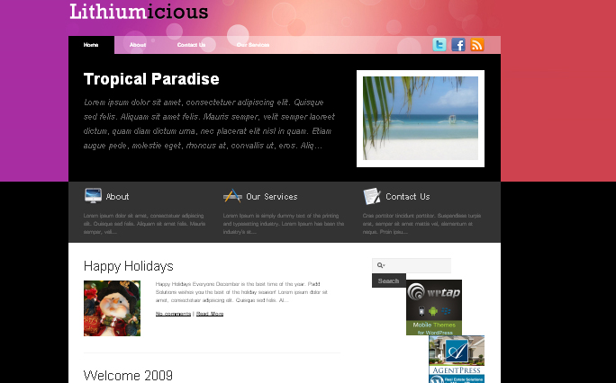 Lithiumicious WordPress themes