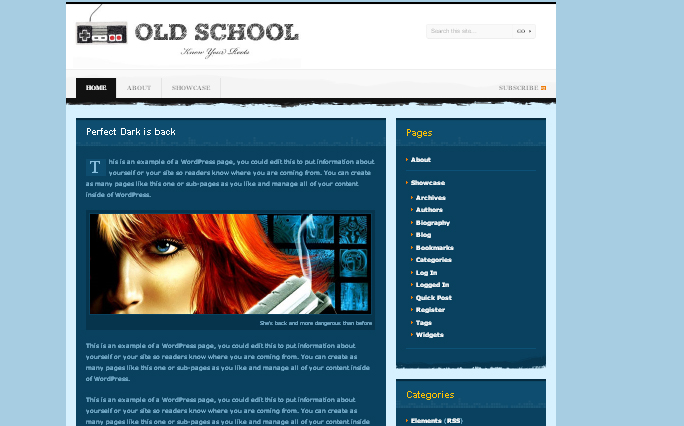 Old-school WordPress Themes