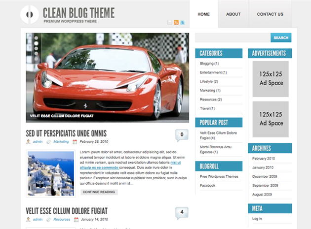 clean blog theme  Clean Blog Theme